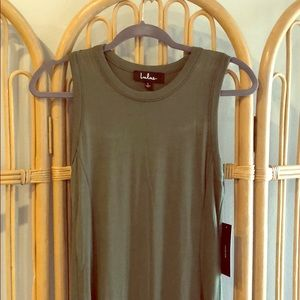 Lulus shield & sword olive green maxi dress